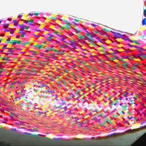 Bags - Hand woven plastic colorful bag